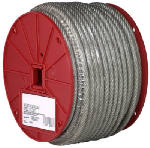 Apex Tools Group 7000397 Clear Vinyl Galvanized Cable, 7x7, 3/32-In.-3/16-In. x 250-Ft.