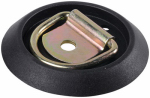 "Hampton Products-Keeper 89313 4"" Round Surface Mount Flip Ring Anchor w/Black Trim, 2 pack"
