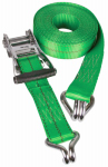 "Hampton Products-Keeper 04730 30' x2"" Ratchet Tie-Down with Chrome J-Hooks"