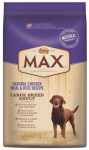 C D Ford & Sons 10091202 Max Dog Food, Dry, Natural Chicken Meal & Rice Recipe, Large Breed, 30-Lbs.