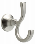 Liberty Hardware 76235-BN Mandara Collection Double Robe Hook, Brushed Nickel
