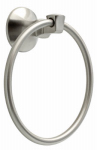 Liberty Hardware 76246-BN Mandara Collection Towel Ring, Brushed Nickel