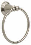 Liberty Hardware 79646-BN Windemere Collection Towel Ring, Brushed Nickel