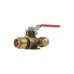 Sharkbite/Cash Acme 24615-0000LFA Ball Valve With Drain, 1/2-In.