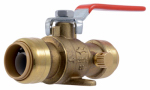 Sharkbite/Cash Acme 24616-0000LFA Ball Valve With Drain, 3/4 x 3/4-In.