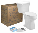 Mansfield Plumbing Products 4137CTK Prof3 WHT Toilet To Go