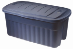 Rubbermaid 2547-CP-DIM Roughtote Storage Container, Dark Indigo, 40-Gals., Must Purchase in Quantities of 8
