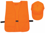 Allen 17555 Hat & Vest Combo, Orange, One Size