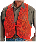 Allen 15750 Safety Vest, Orange Polyester Mesh, One Size
