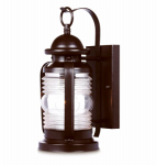 Westinghouse Lighting 62301 Wall Light Fixture, Outdoor, Weathered Bronze & Clear Glass, 60-Watt, 6 x 12.75-In.