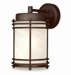 Westinghouse Lighting 62307 Wall Light Fixture, Outdoor, Oil-Rubbed Bronze & White Glass, 100-Watt, 6.25 x 11-In.