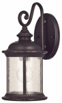 Westinghouse Lighting 62306 Wall Light Fixture, Outdoor, Oil-Rubbed Bronze & Clear Seeded Glass, 100-Watt, 6.5 x 13.25-In.