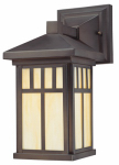 Westinghouse Lighting 67328 Wall Light Fixture, Outdoor, Oil-Rubbed Bronze & Honey Art Glass, 100-Watt, 6 x 12.5-In.