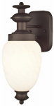 Westinghouse Lighting 62308 Wall Light Fixture, Indoor/Outdoor, Oil-Rubbed Bronze & White Alabaster Glass, 60-Watt, 5.5 x 14-In.