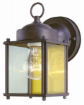 Westinghouse Lighting 66935 Wall Light Fixture, Outdoor, Sienna Brown & Clear Glass, 100-Watt