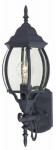 Westinghouse Lighting 67863 Wall Light Fixture, Outdoor, Black Aluminum & Clear Glass, 100-Watt, 6.78 x 14.75-In.