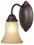 Westinghouse Lighting 62238 Wall Light Fixture, Indoor, Oil Rubbed Bronze & Aged Alabaster Glass, 60-Watt, 5.8 x 9-In.
