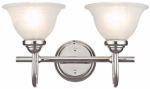 Westinghouse Lighting 62311 Wall Light Fixture, Indoor, Chrome & White Swirl Glass, 60-Watt, 15.6 x 10.9-In.