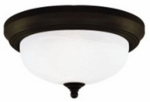 Westinghouse Lighting 64291 Ceiling Light Fixture, Indoor, Oil Rubbed Bronze & Frosted White Alabaster Glass, 60-Watt, 13 x 5.875-In.