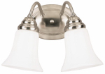 Westinghouse Lighting 64617 Wall Light Fixture, Indoor, Brushed Nickel & White Opal Glass, 60-Watt, 8.5 x 13.5-In.