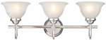 Westinghouse Lighting 62312 Wall Light Fixture, Indoor, Chrome & White Swirl Glass Shade, 60-Watt, 24.7 x 8.3-In.