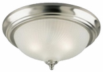 Westinghouse Lighting 64305 Ceiling Light Fixture, Brushed Nickel & Frosted Swirl Glass, 13-In.