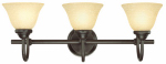 Westinghouse Lighting 66031 Wall Light Fixture, Indoor, Dark Bronze & Antique Amber Glass, 60-Watt, 24 x 8.875-In.