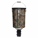 Wgi Innovations/Ba Products TH-50P2 Pail Feeder, Real Tree Camo Steel, 50-Lbs.