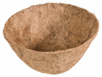 Panacea Products 88592 Hanging Plant Basket Liner, Coco Fiber, Round, 14-In.