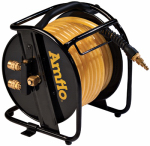 Schrader/Amflo 545HR-RET Air Hose & Reel, 200-PSI, Dual Outlet Fittings, 3/8-In. x  75-Ft.