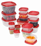 Rubbermaid 1779216 Easy Find Lid Storage Container Set, 34-Pc.
