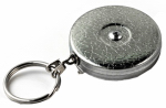 West Coast 0005-011 Belt Clip Key Reel, Retractable, Chrome With 24-In. Stainless Steel Chain