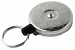 West Coast 0485-821 Key Reel Clip, Retractable, Chrome With 48-In. Kevlar Cord