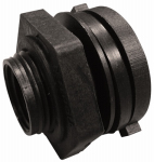 Genova Products 38807 Bulkhead Fitting, PVC, Schedule 40, 3/4-In.