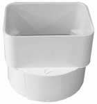 Genova Products 45344 PVC Sewer & Drain Downspout Adapter, 3 x 4 x 4-In.