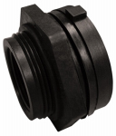 Genova Products 38814 Pipe Fitting, PVC Bulkhead Fitting, 1-1/4-In.