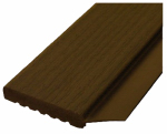 Gossen 236009707 Garage Door Weatherstripping, Brown PVC, 2-In. x 9-Ft.