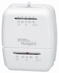 White-Rodgers Division M100 Heat & Cool Thermostat,  Snap-Action, 12-Volts