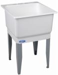 El Mustee 14K 23x25 WHT Single Laundry Tub