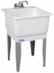 El Mustee 14CP 23x25WHT Combo Laundry Tub