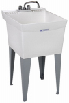 El Mustee 19CF 20x24WHT Combo Laundry Tub