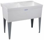 El Mustee 27F 40x24 WHT Double Laundry Tub
