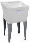 El Mustee 19F 20x24 WHT Single Laundry Tub