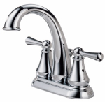 Delta Faucet 25901LF Hi-Arc Lavatory Faucet With Pop-Up, 2-Handle, Chrome