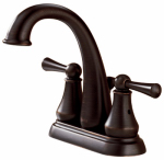 Delta Faucet 25901LF-RB Hi-Arc Lavatory Faucet With Pop-Up, 2-Handle, Venetian Bronze
