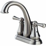 Delta Faucet 25901LF-SS Hi-Arc Lavatory Faucet With Pop-Up, 2-Handle, Stainless Steel