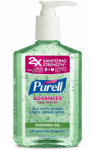 Gojo Industries 9674-12 Advanced Hand Sanitizer Gel, Aloe, 8-oz. Pump