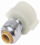 Sharkbite/Cash Acme U3525LFA Thread Faucet Connector,  1/4 x 1/2 Female x 14-In.