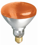 Globe Electric 70953 Floodlight Bulb, Accent Reflector, Amber, 100-Watt