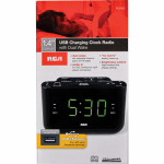 Audiovox RC142 Clock Radio, Dual Wake, Black